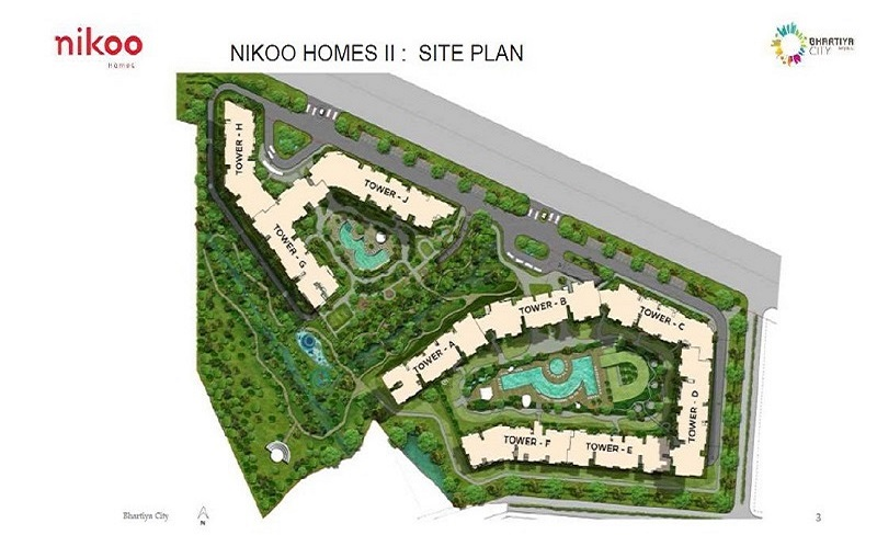 Bhartiya City Nikoo Homes Master Plan
